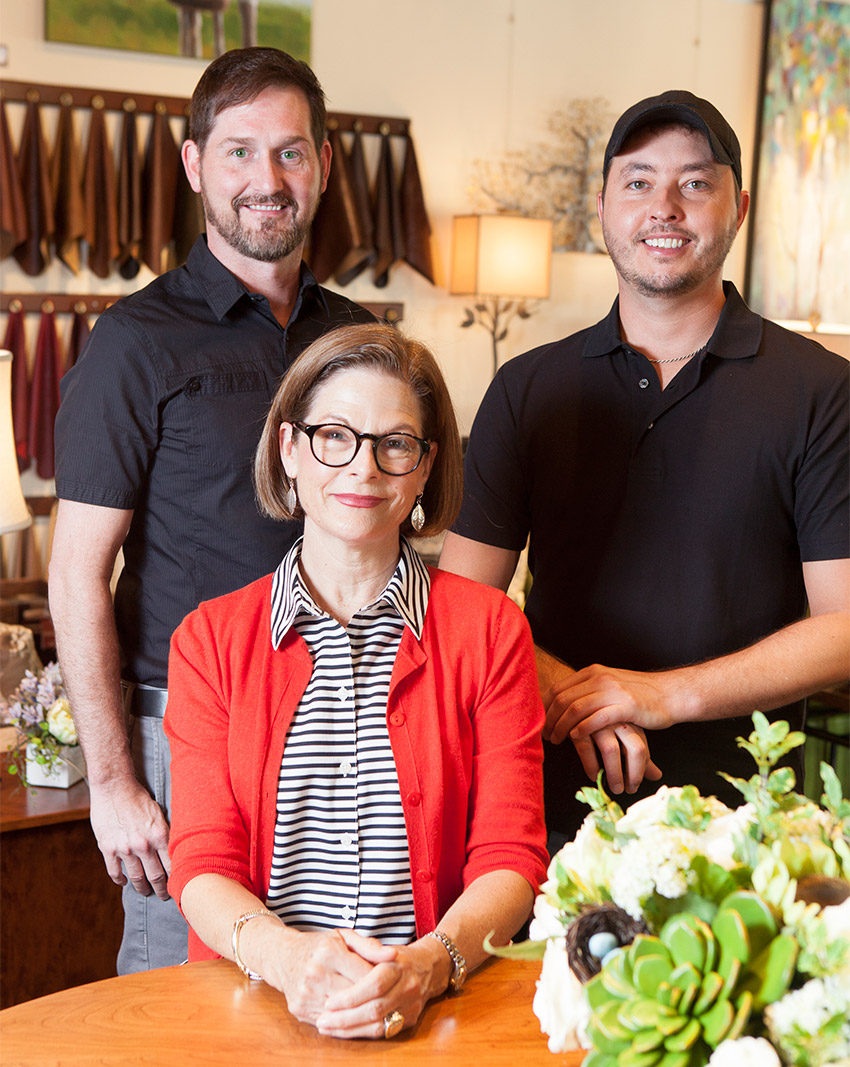 design avenue crew along with jackie teague owner of design avenue home furnishings one of beautiful furniture in asheville